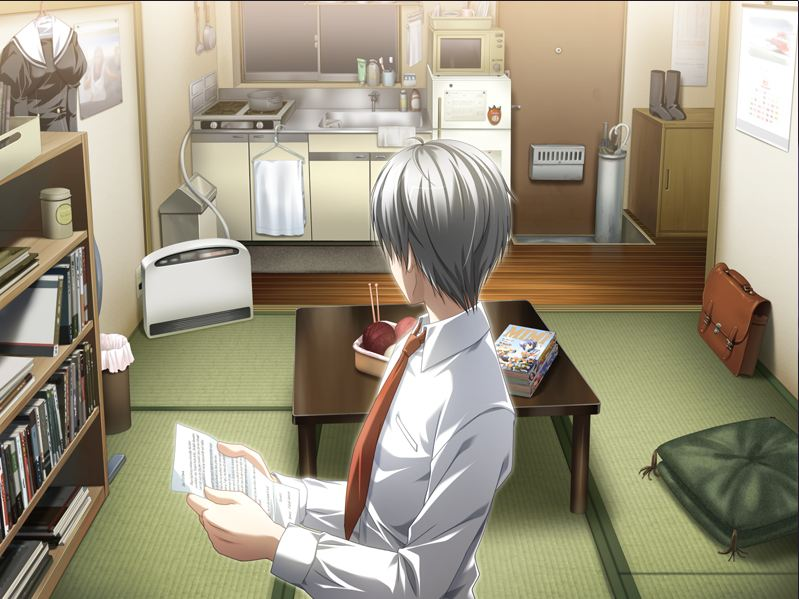 Like this. Yeah, that letter he's holding is an actual, in-character letter relevant to the scene. And we translated it.